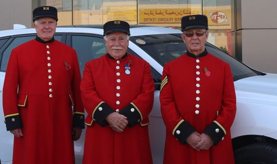 Euro Motors Jaguar Land Rover Sponsors the Visit of The Chelsea Pensioners
