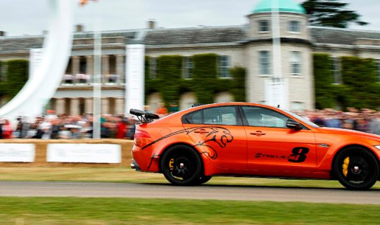 Jaguar XE SV Project 8 Wins 'SHOWSTOPPER' Award at 2017 Goodwood Festival of Speed